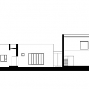 Y house - section © AZL architects
