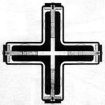 Ludwig mies van der Rohe | Sezione orizzontale del pilastro del Padiglione tedesco all'Esposizione di Barcellona | 1929