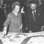 1988_Margaret Thatcher viewing the Canary Wharf scheme