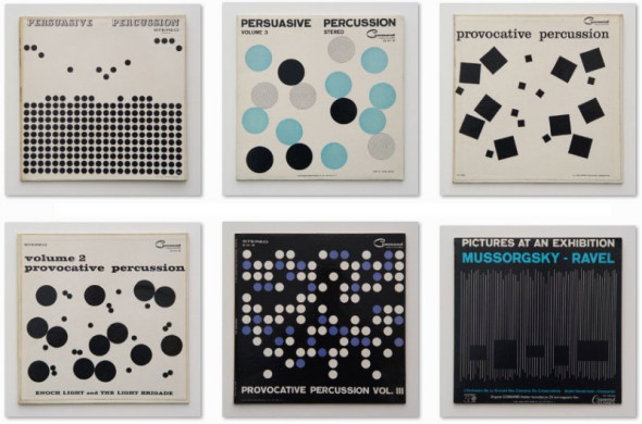 fig 3 - Josef Albers's Albums Covers the Provocative and Persuasive Percussions Series (1958-1961)